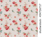 trendy seamless floral pattern... | Shutterstock .eps vector #454726717