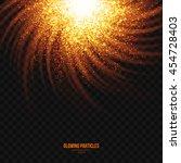 abstract bright golden shimmer... | Shutterstock .eps vector #454728403