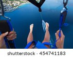 Parasailing In Summer On The...