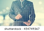 business man working with a... | Shutterstock . vector #454749367