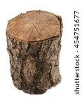 Dry Tree Stump On A White...