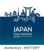 japan travel destination vector. | Shutterstock .eps vector #454773097