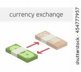 currency exchange concept.... | Shutterstock .eps vector #454777957