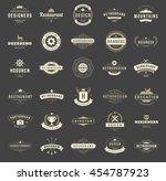 vintage logos design templates... | Shutterstock .eps vector #454787923