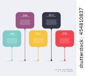 timeline infographic design... | Shutterstock .eps vector #454810837