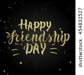 happy friendship day  vector... | Shutterstock .eps vector #454832527