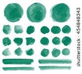 set of watercolor blobs ... | Shutterstock . vector #454848343