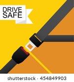 safety belt vector flat design. | Shutterstock .eps vector #454849903