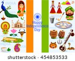 15th august  happy independence ... | Shutterstock .eps vector #454853533