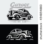vector illustration of a retro... | Shutterstock .eps vector #454854883