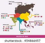 the boundary and country of... | Shutterstock .eps vector #454866457