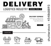 modern delivery industry pack.... | Shutterstock .eps vector #454868893