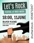 let's rock festival poster.... | Shutterstock .eps vector #454871047