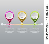 three steps infographics   can... | Shutterstock .eps vector #454871503