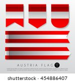 set of world flag ribbon... | Shutterstock .eps vector #454886407