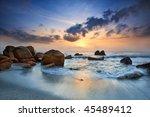 sunrise view at seaside kuantan ... | Shutterstock . vector #45489412