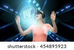technology  virtual reality ... | Shutterstock . vector #454895923