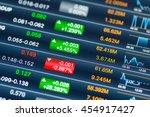 digital stock market listing on ... | Shutterstock . vector #454917427