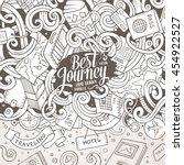 cartoon cute doodles hand drawn ...   Shutterstock .eps vector #454922527