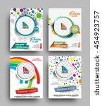 set of flyer  poster   magazine ... | Shutterstock .eps vector #454923757