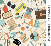 school pattern. seamless... | Shutterstock .eps vector #454933357
