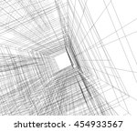 abstract architecture 3d... | Shutterstock . vector #454933567