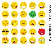 emoji. emoticons smile icon set....   Shutterstock .eps vector #454933903