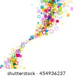 white background with color... | Shutterstock .eps vector #454936237