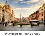 Piazza Navona At Sunset  Rome....