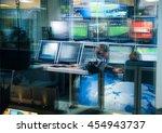 television blurred background ... | Shutterstock . vector #454943737