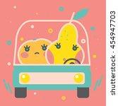 colorful apple illustration ... | Shutterstock .eps vector #454947703
