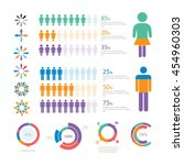 infographic elements collection ... | Shutterstock .eps vector #454960303