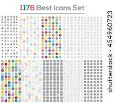 vector set of 1176 flat web... | Shutterstock .eps vector #454960723