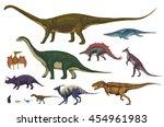 dinosaurs cartoon collection ... | Shutterstock .eps vector #454961983