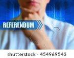 referendum title button.... | Shutterstock . vector #454969543