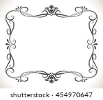 Black And White Floral Frame...