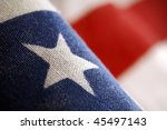 A Detail Of American Flag  ...