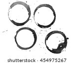 set of black stains isolated on ... | Shutterstock . vector #454975267