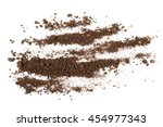 pile soil isolated on white... | Shutterstock . vector #454977343