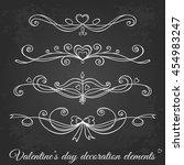 valentine's day hand drawn... | Shutterstock .eps vector #454983247