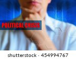 political crisis title. person... | Shutterstock . vector #454994767