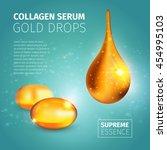 collagen serum poster with... | Shutterstock .eps vector #454995103