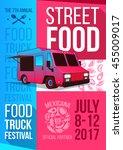 food truck festival food... | Shutterstock .eps vector #455009017