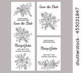 wedding invitation vector... | Shutterstock .eps vector #455031847