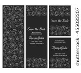 wedding invitation vector... | Shutterstock .eps vector #455032207