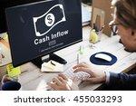 cash flow business money... | Shutterstock . vector #455033293