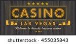 las vegas plate | Shutterstock .eps vector #455035843