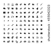 set of 100 universal icons.... | Shutterstock .eps vector #455042323