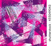 grunge urban geometric pattern. ... | Shutterstock .eps vector #455049043
