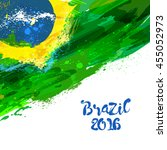 Brazilian Watercolor Flag....